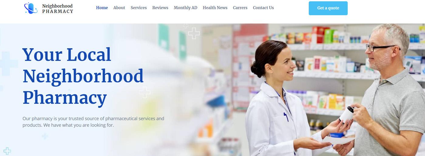 MotoCMS Pharmacy Website