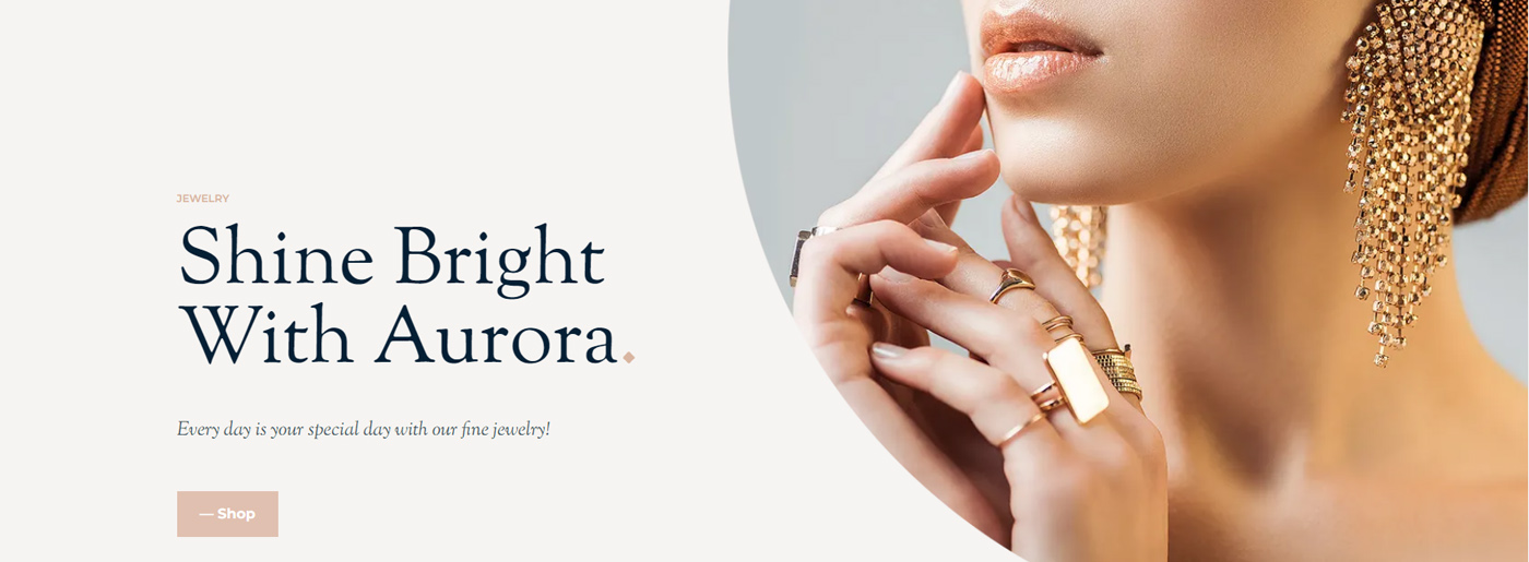 Website Template for Jewelry Shop