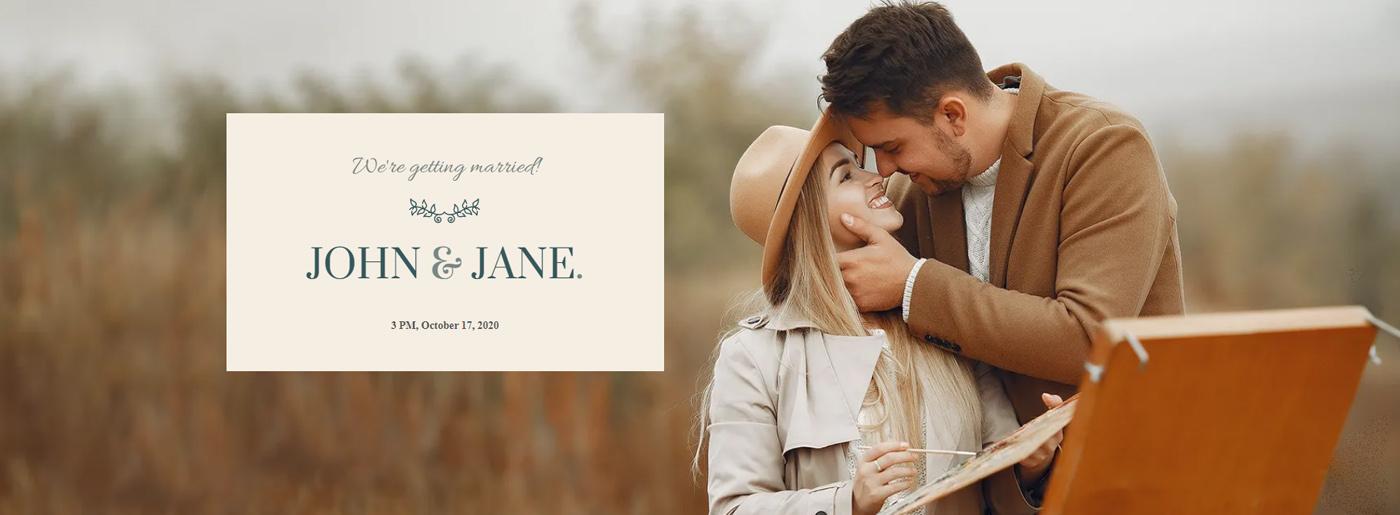 Wedding Invitation Website Template