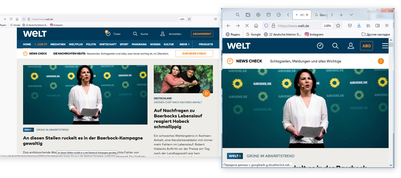 gute website responsive design