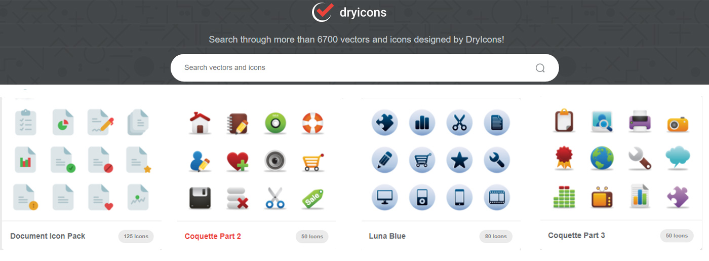 Colorful Free Icons for Website Design