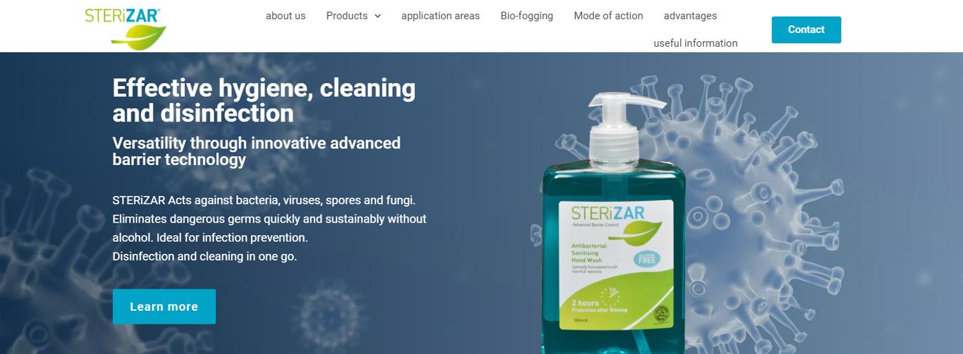 Desinfection Website Builder Sites