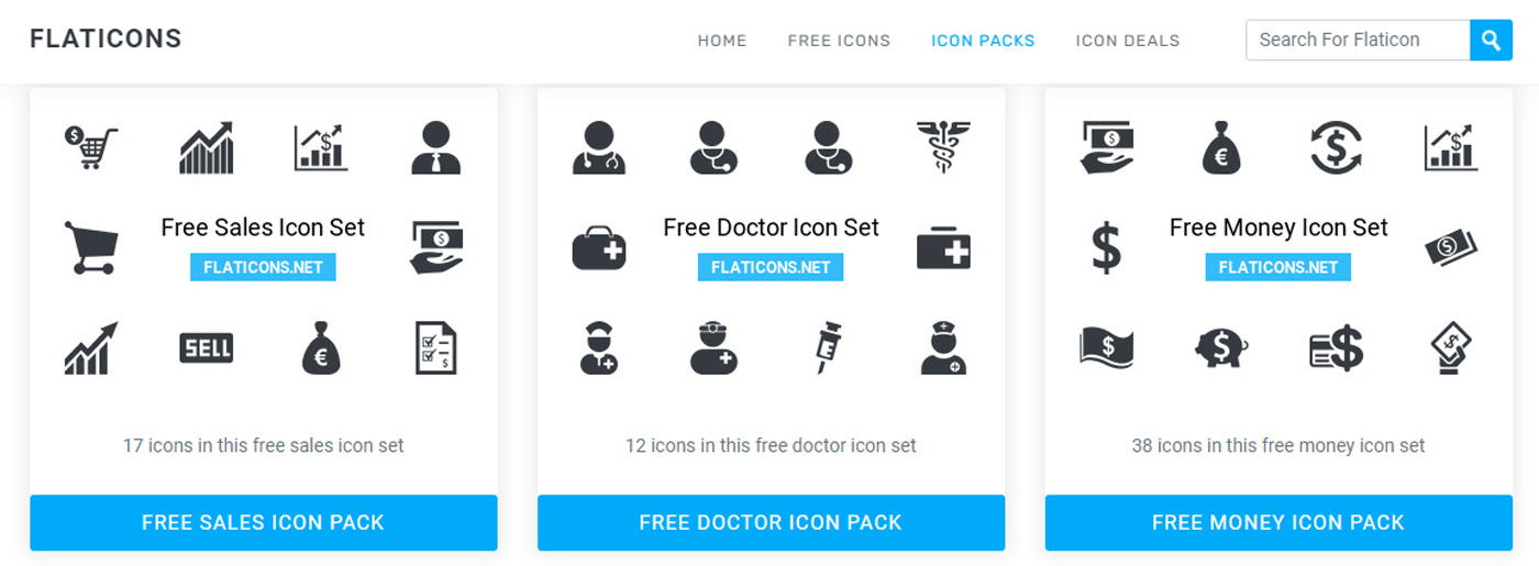 Flaticons Free Website Design Icons
