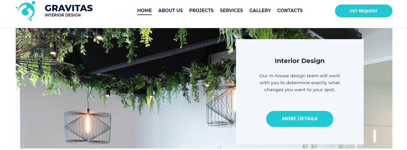 Turnkey Website Solution for Interior Design