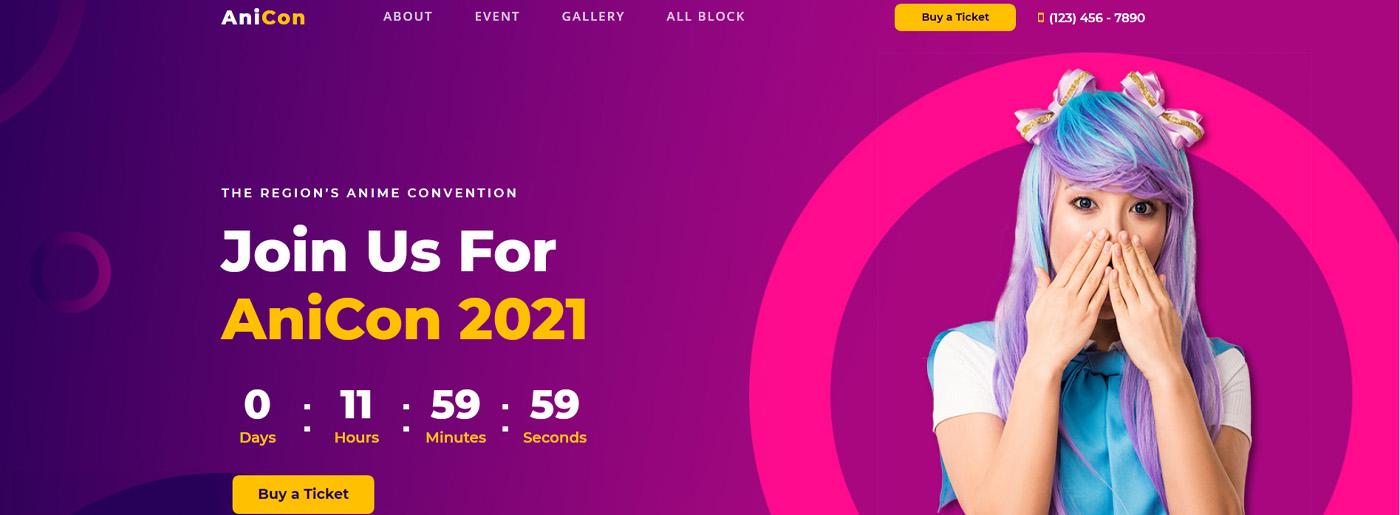 Anime Fest Website