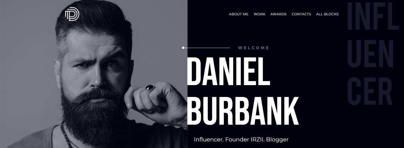 Social Influencer Website Template
