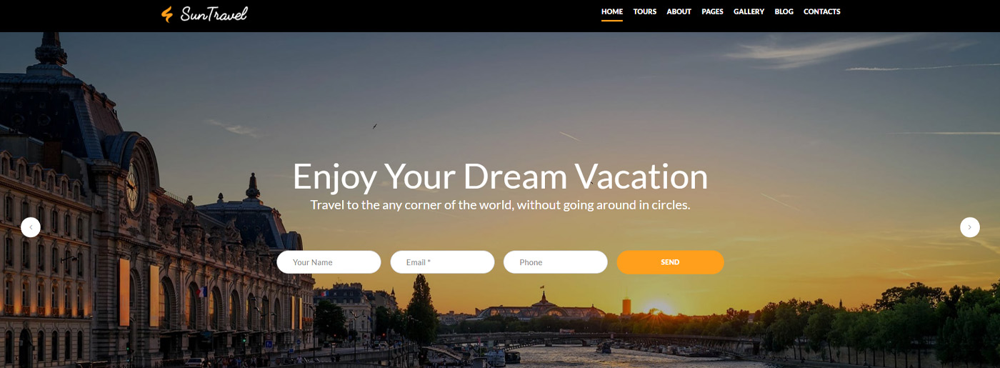 Travel and Tourism Website Template