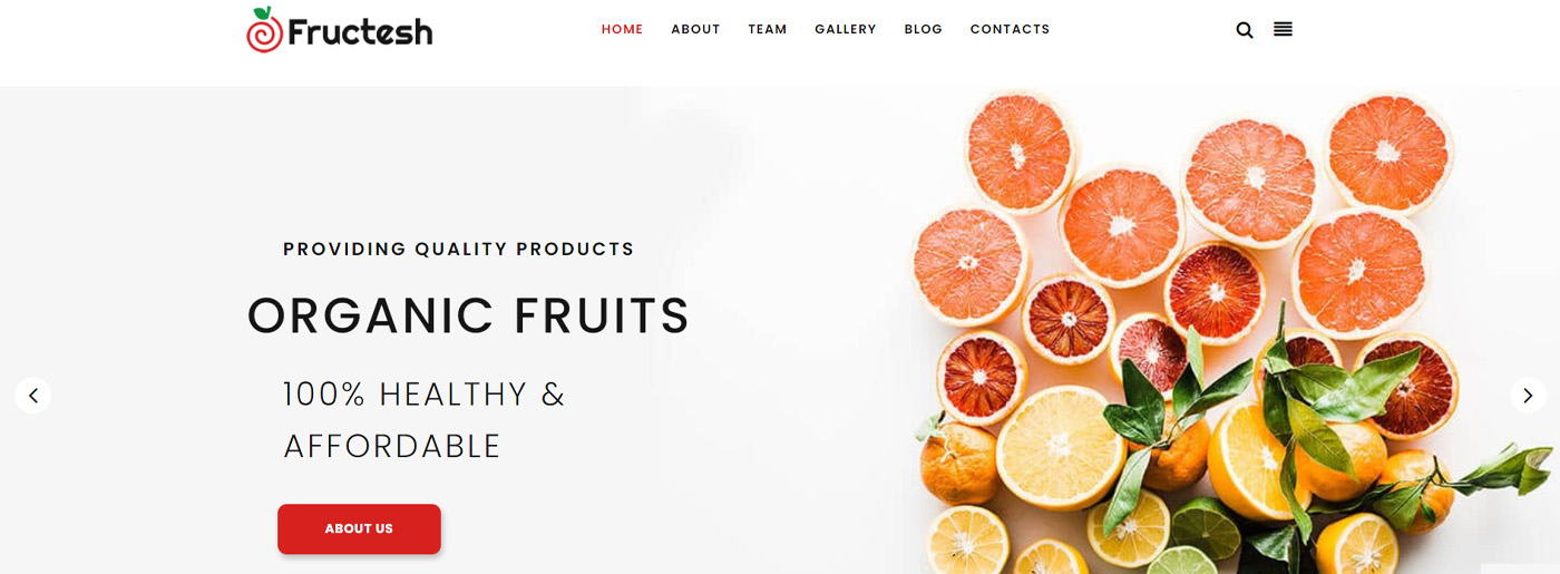 How to Design Website From Scratch - Fruit Shop