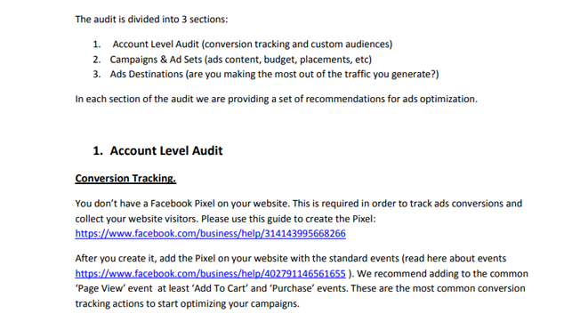 facebook ads audit checklist